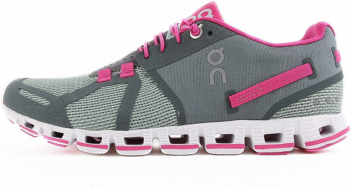 O&N Zapatillas de Running Cloud Gris/Verde Bosque/Fucsia EU 39 (US 9): Amazon.es: Zapatos y complementos