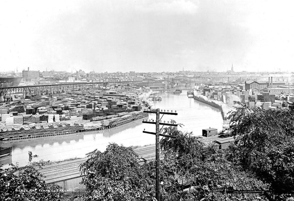 Amazon Com 1901 Cleveland Flats Cleveland Ohio Vintage Photograph 13 X 19 Reprint Photographs