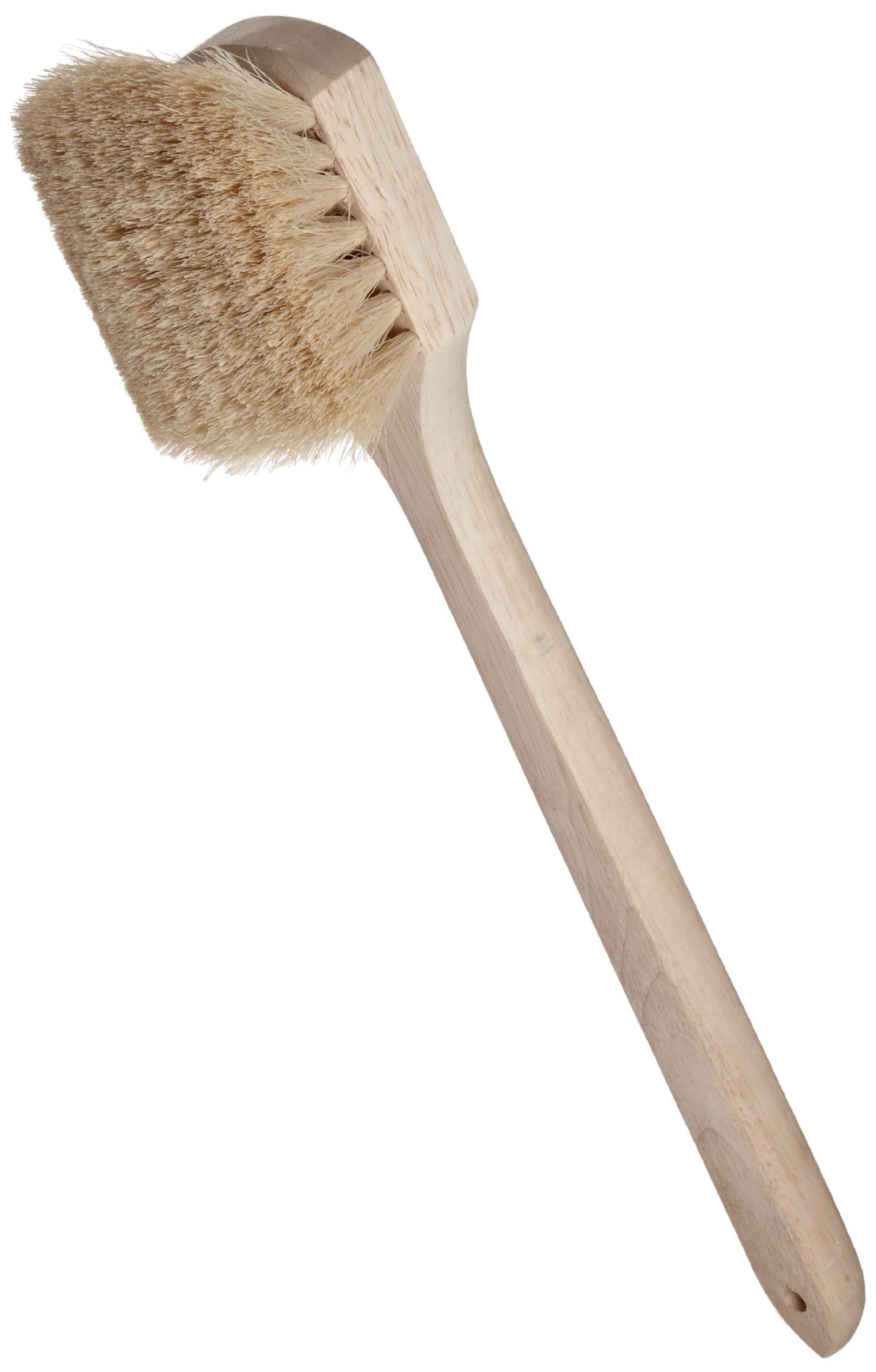 Weiler 44017 Tampico Fiber Utility Scrub Brush with Long Wood Handle, 2-1/2'' Head Width, 20'' Overall Length