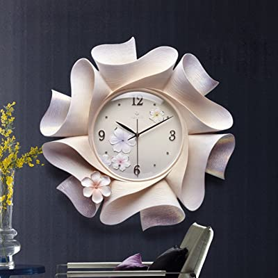 Edge To Modern Minimalist Creative Silence Wall Clock Living Room Three - Dimensional Table Linked To