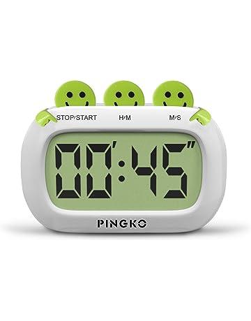 Pingko Temporizador Cronómetro Digital De Docina De Diseño Estético Con Grandes Dígitos & Alama Ruidosa