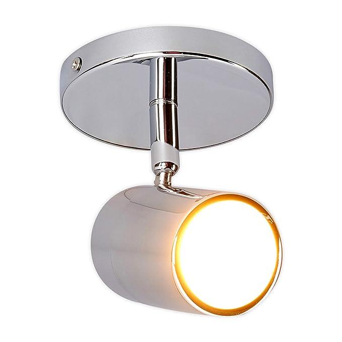 in Chrom aus Metall u.a Lampenwelt Deckenlampe Dejan dimmbar Modern Lampe Badezimmerleuchte spritzwassergesch/ützt f/ür Badezimmer - Bad Deckenleuchte 1 flammig, GU10, A++