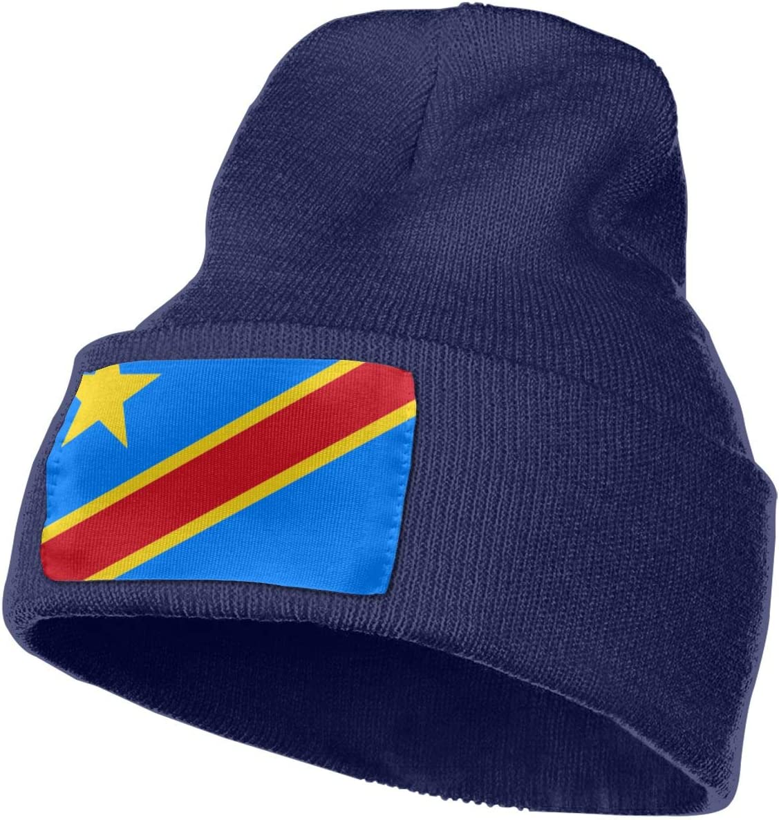 MACA Democratic-Republic-of-Congo Unisex Slouch Beanie Hats Warm /& Stylish Winter Hats Black Thick