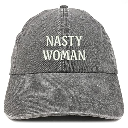 ccbbccfbdf2ad Trendy Apparel Shop Nasty Woman Embroidered Soft Washed Cotton Adjustable  Cap - Black