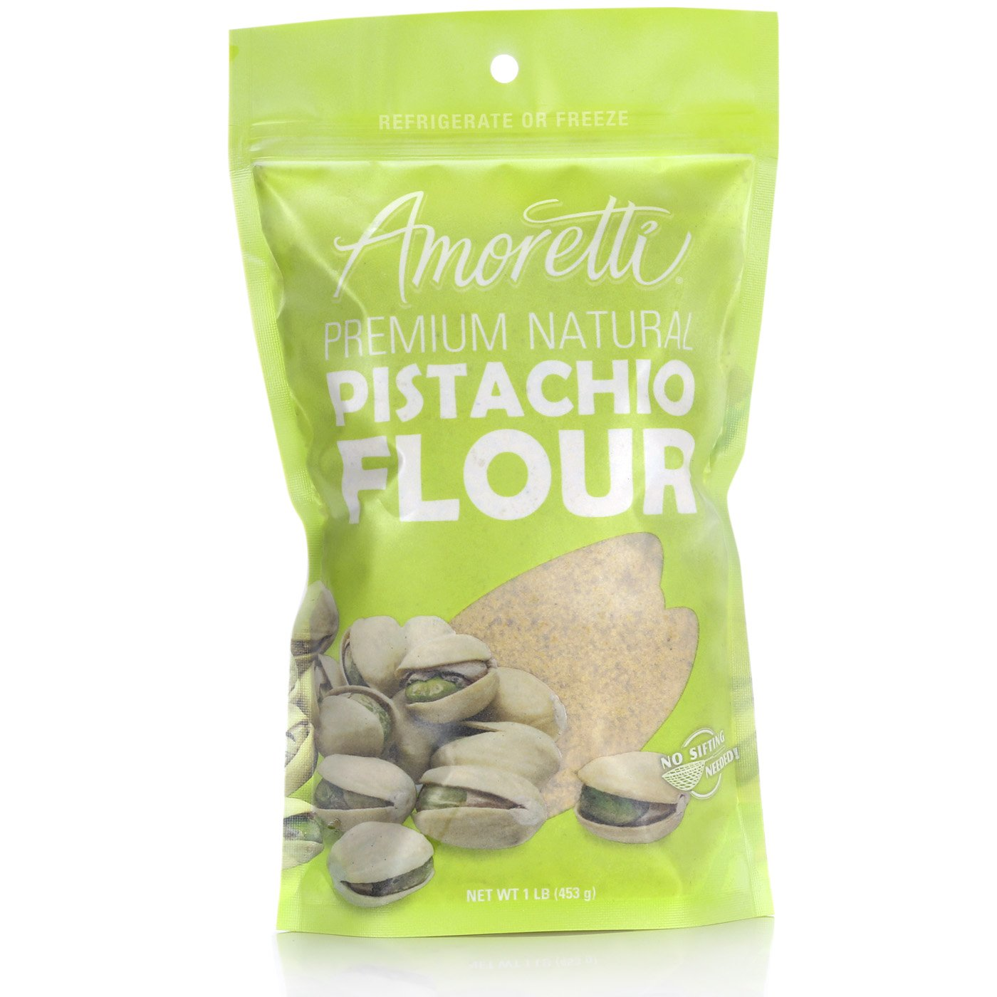 Amoretti Premium Natural Pistachio Flour, 1 Pound by Amoretti