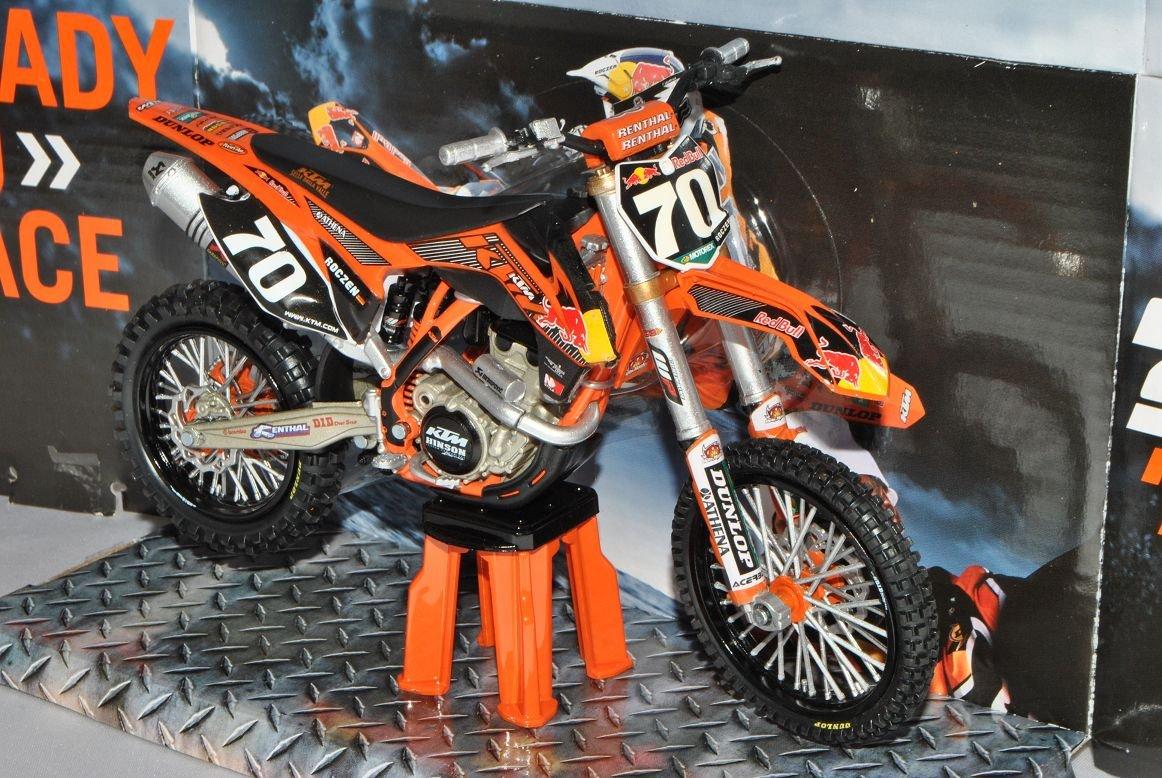 KTM 250 SX-F No 70 K Roczen 2012 Orange Enduro 1//12 K-T-M Modell Motorrad mit individiuellem Wunschkennzeichen