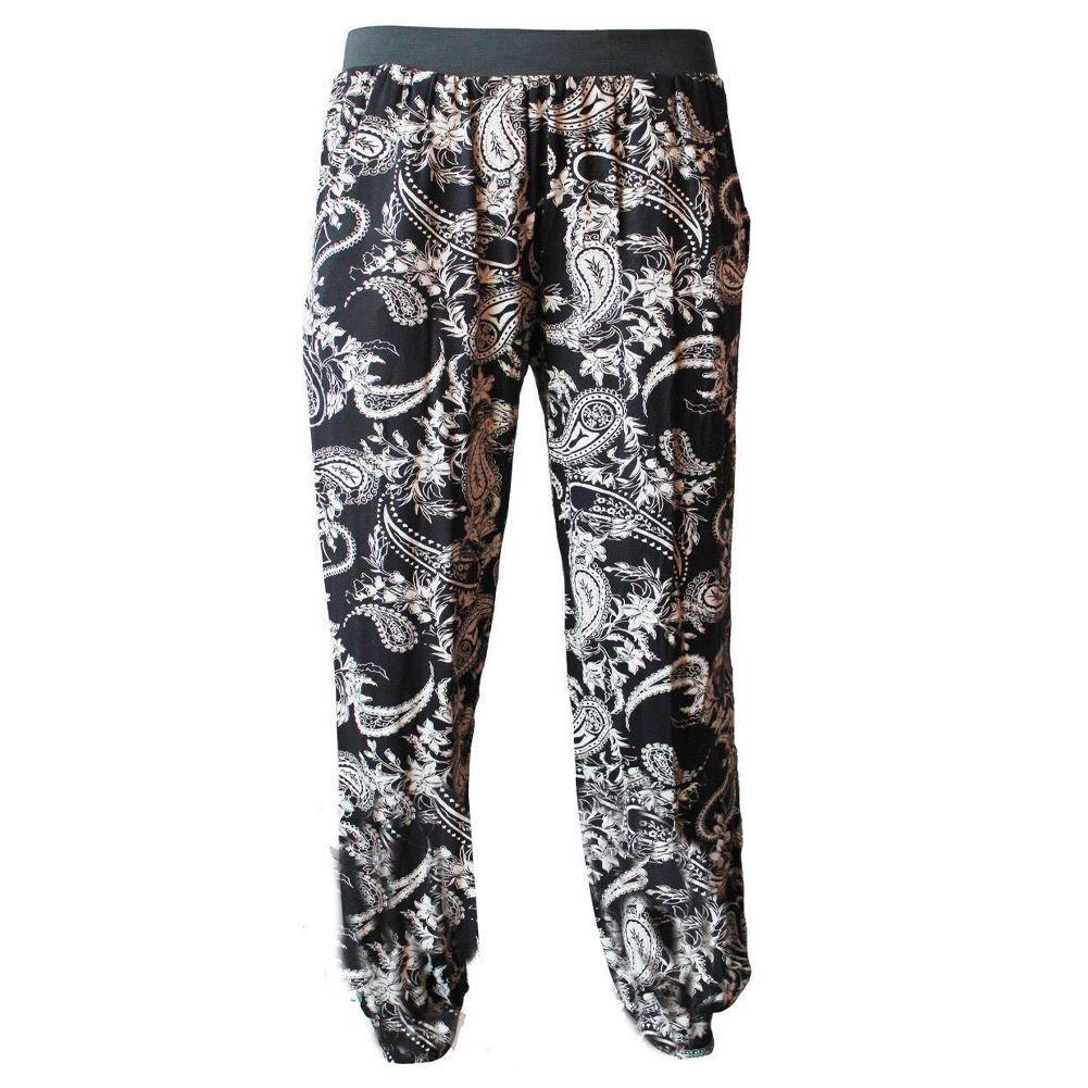 New Womens Floral Paisley Print Harem Ali Baba Baggy Leggings Loose Trouser Pant