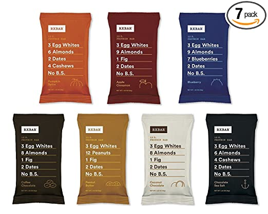 RxBar Real Food Protein Bars Variety Pack, 7 Flavors