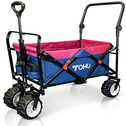 Amazon.com   Pull   Push Collapsible Utility Folding Wagon with All ... 6cd3c4e20