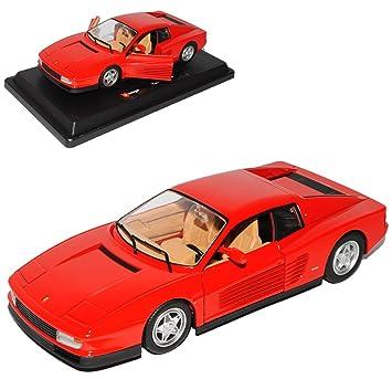 d80a96cdf47a alles-meine.de GmbH Ferrari Testarossa Coupe Rot 1984-1996 1 24 Bburago  Modell Auto mit individiuellem Wunschkennzeichen  Amazon.de  Spielzeug