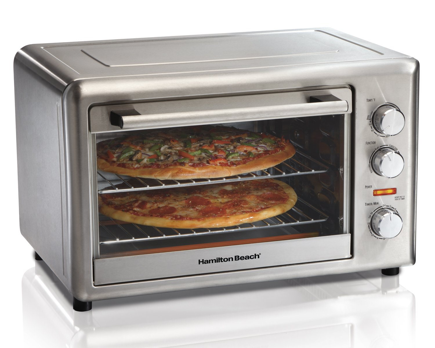 Hamilton Beach 31103C Countertop Oven with Convection and Rotisserie, Stainless Steel