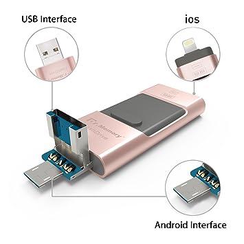 Memoria USB 32GB para iPhone, Memoria Externa 3 en 1, Dr.Memory OTG