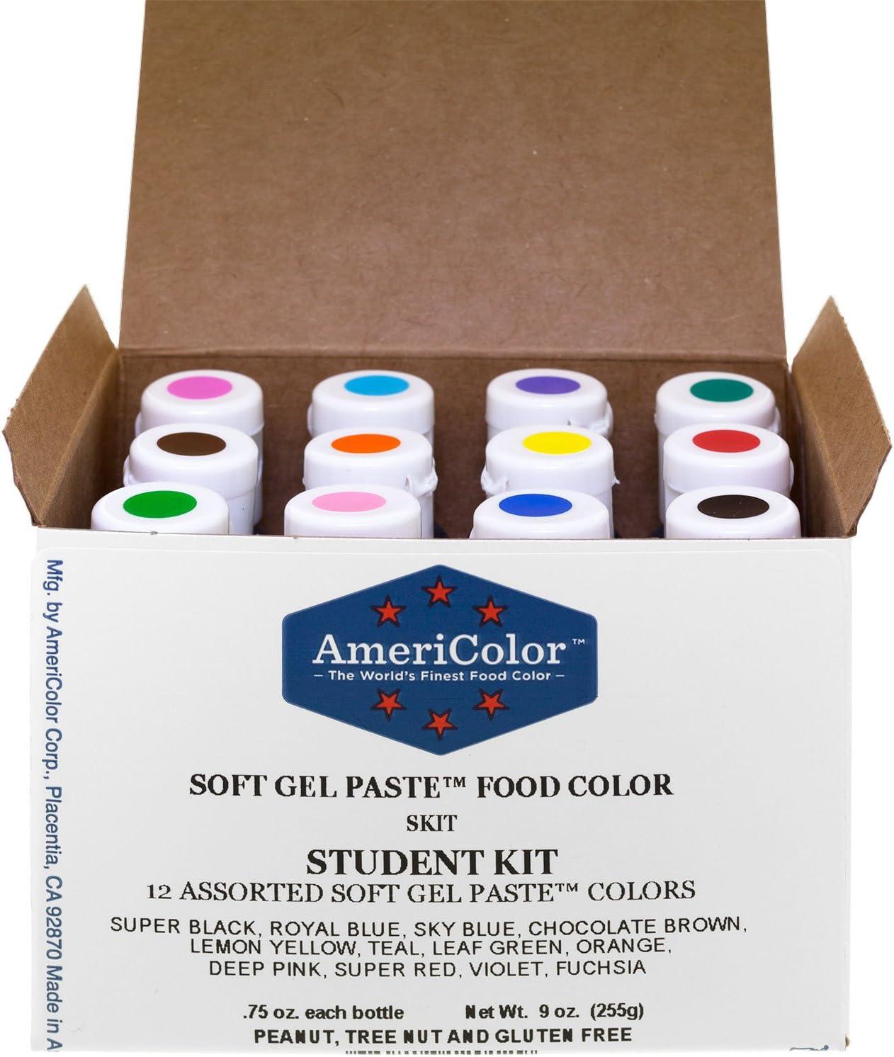 Americolor Soft Gel Paste Student Color Kit 12 pc. by AmeriColor