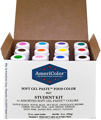 Amazon.com: Food Coloring AmeriColor Student - Kit 12 .75 Ounce ...