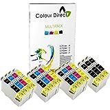 15 ( 3 Conjuntos + 3 Negro ) Colour Direct Compatible cartuchos de tinta T0715 - Reemplazo para EPSON STYLUS S20, SX100, SX105, SX110, SX115, SX200, SX205, SX210, SX215, SX218, SX400, SX405, SX410, SX415, SX515W, SX600FW, SX610FW, BX300F, S21, D120, DX4000, DX4050, DX4400, DX4450, DX5000, DX5050, DX6000, DX6050, DX7450. DX8450, DX7000F, DX7400, DX8400 impresoras
