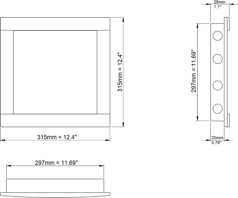 En plastique Blanc Trappe dinspection 300 x 300 mm Pour cloison s/èche Vanne dentretien 30 x 30 cm Convient pour les pi/èces humides