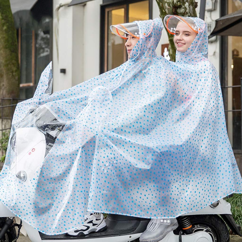 I XXXXL Poncho imperméable de Moto de Bicyclette électrique de Double épaississeHommest de Poncho Transparent (Couleur   O, Taille   XXXXL)