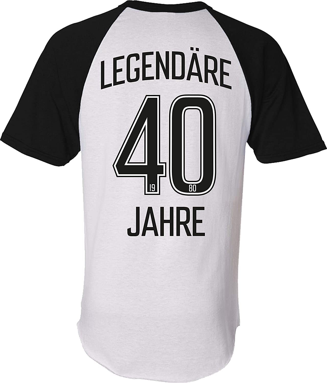 Camiseta: Legendäre 40 años – Cumpleaños – Año 1980 – Camiseta – Regalo de cumpleaños – Fútbol – Deporte – Hombres Mujeres – Mujer Hombre – Divertido – Estadio – Fan: Amazon.es: Ropa y accesorios