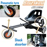 """Upgraded Fully Adjustable Go-Kart Seat For Hoverboard, With Shock Absorber & Pneumatic Tyre, Off-Road 6.5/8/10"""" Hoverboards Scooter Accessories For Kids and Adult (Balance board not included)"""