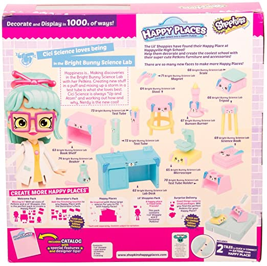 Amazon happy places shopkins season 3 welcome pack bright amazon happy places shopkins season 3 welcome pack bright bunny science lab toys games sciox Gallery