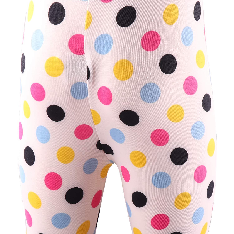 Snyemio Ragazza Stretch Leggings Pantaloni Collant Calzamaglie Casual Primavera 3 Paia