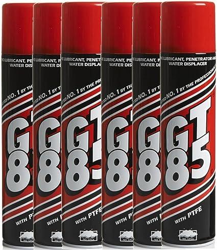 GT85 – 6 botes de lubricante para cadenas con PTFE, repelente de ...