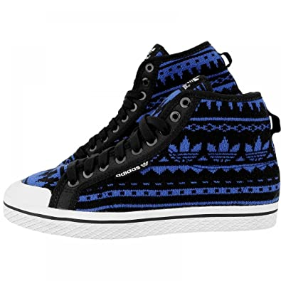 Adidas original knitted fabric Honey blue black women s trainers mid boot  G95727 (UK 7.5   b92fa71f2