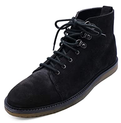 6db7529838f HeelzSoHigh Mens Black Leather Lace-Up Dealer Smart Casual Ankle ...