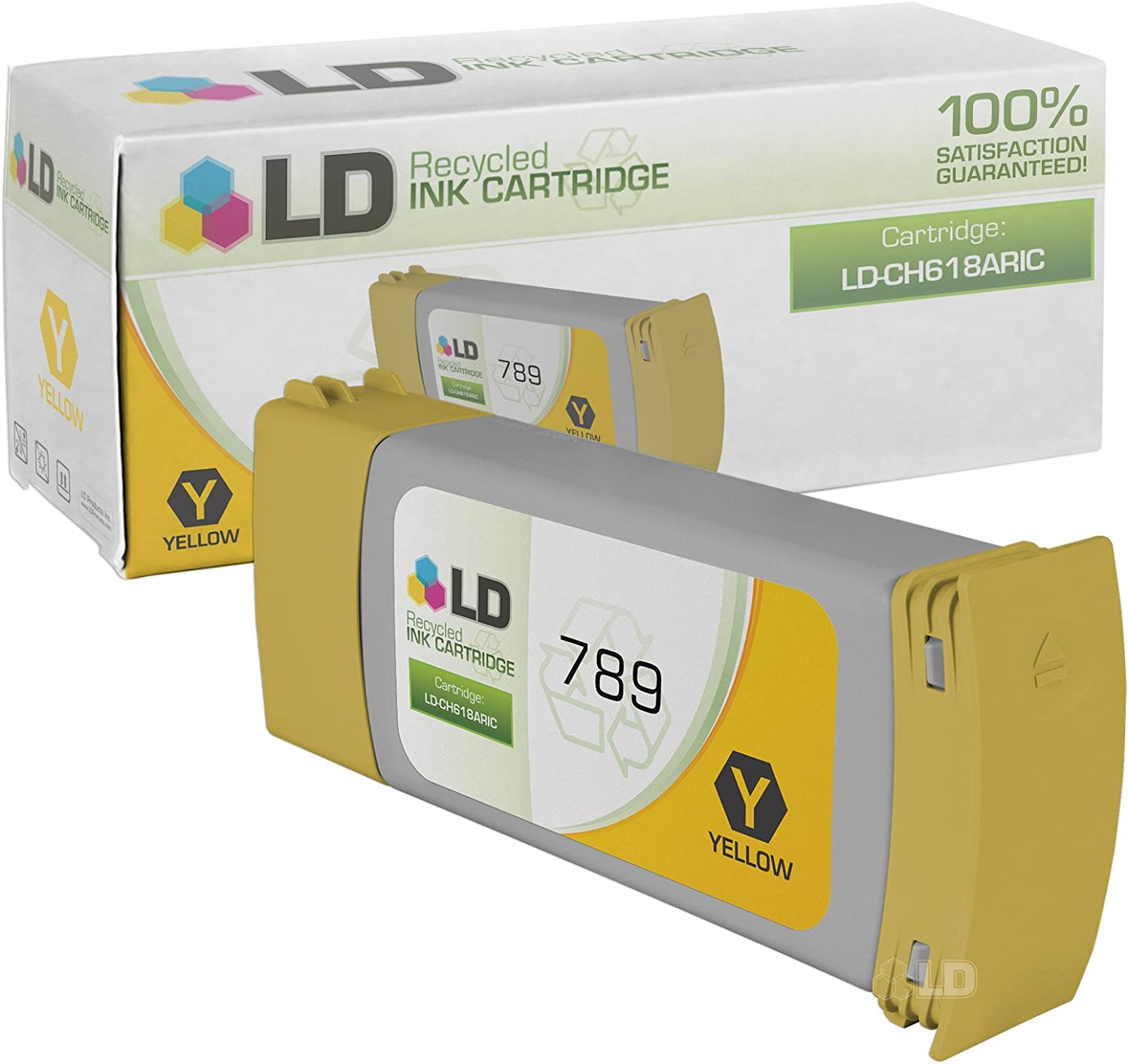 LD Remanufactured Ink Cartridge Replacement for HP 789 CH618A (Yellow)