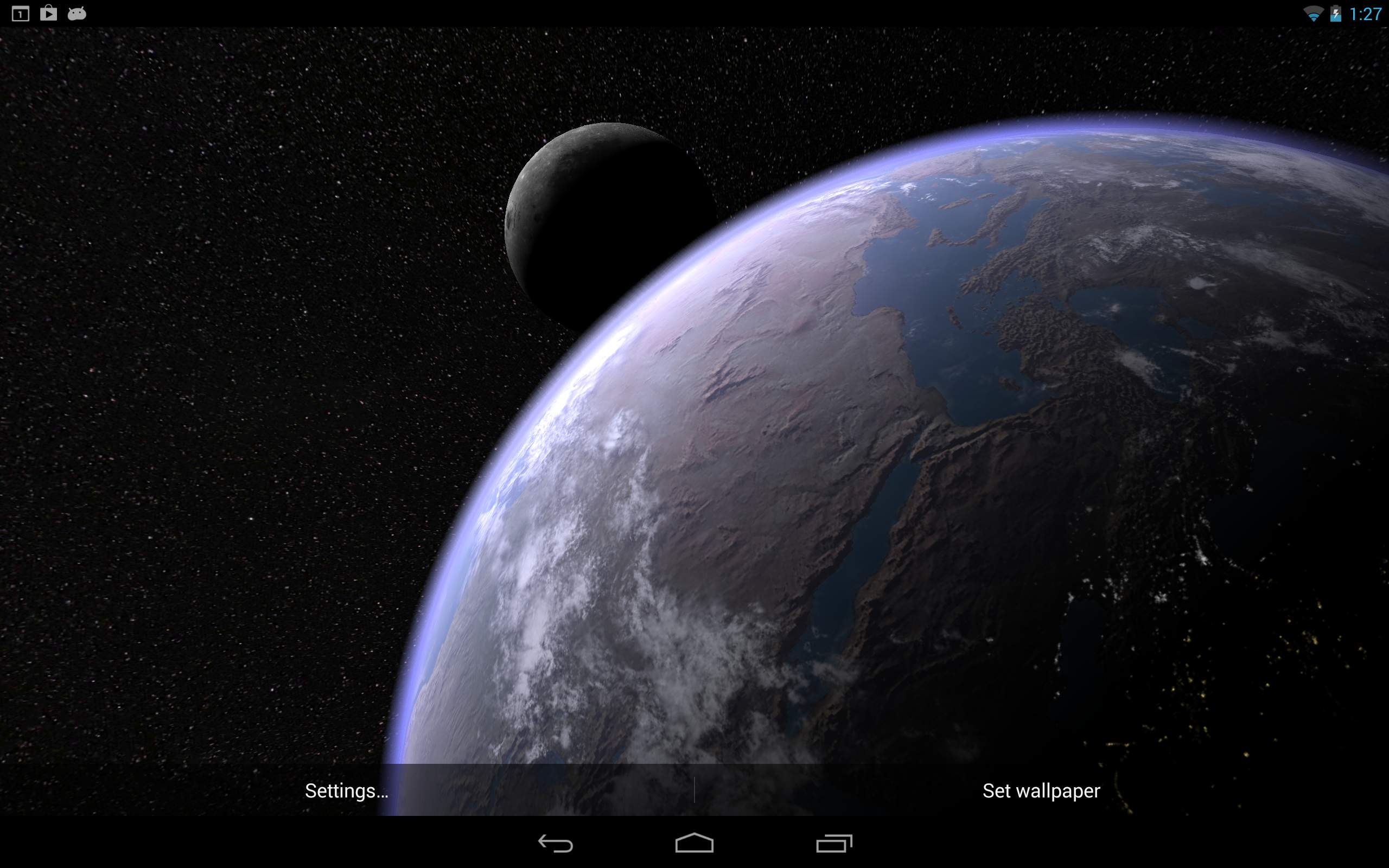Amazon Earth & Moon in HD Gyro 3D PRO Appstore for Android
