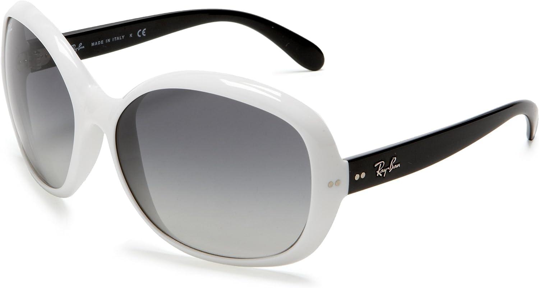 Gafas de Sol Ray-Ban RB4113 JACKIE OHH III WHITE - GRAY GRADIENT: Amazon.es: Ropa y accesorios