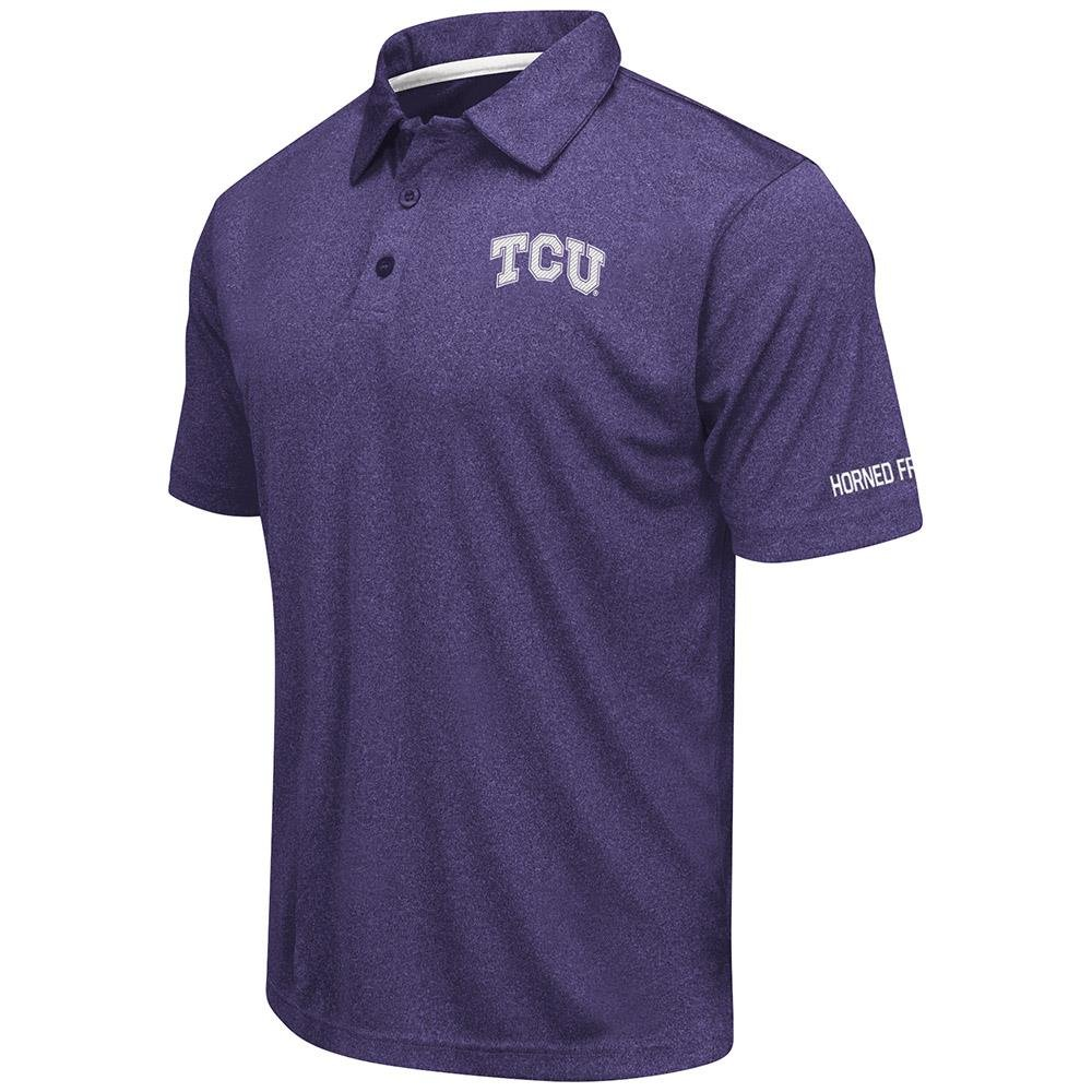 Mens TCU Horned Frogs Short Sleeve Polo Shirt - M