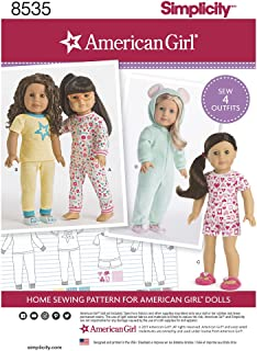 """product image for Simplicity Sewing Pattern D0836 / 8535 - 18"""" Doll Clothes, OS(One Size)"""