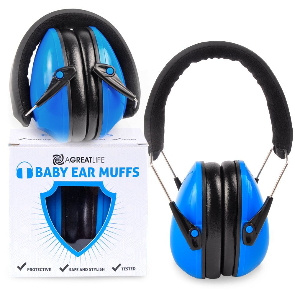 aGreatLife Safest Rated Noise Cancelling Headphones - Baby Ear Protector Earmuffs -Headphones Noise Reduction - Hearing Protection, Used in Airplane for Infants, Toddlers and Kids