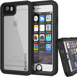 """Punkcase iPhone 6s Plus Waterproof Case [Extreme Series] [Slim Fit] [IP68 Certified] [Shockproof] Cover W/Built in Screen Protector Compatible with Apple iPhone 6 Plus/6s Plus (5.5"""") (Black)"""
