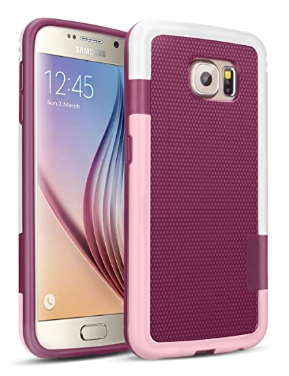 reputable site b2b70 d7d52 Galaxy S6 Case, TILL(TM) 3 Color Hybrid Dual Layer Shockproof Case [Extra  Front Raised Lip] Soft TPU & Hard PC Bumper Protective Case Cover for ...