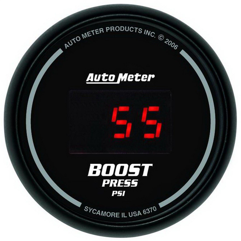 Auto Meter 6370 Sport Comp Digital 2-1/16'' 22037 PSI Digital Boost Gauge