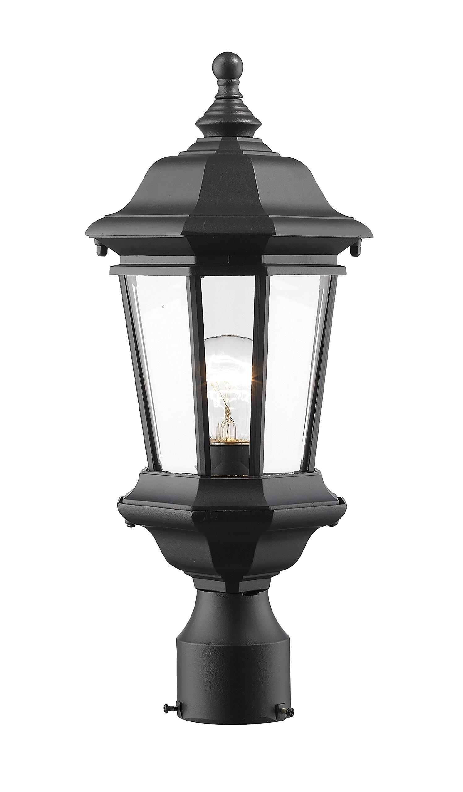 Z-Lite 540PHM-BK Melbourne 1 Outdoor Post Mount Light