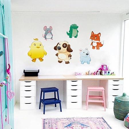 Zigrocket Bébé Animaux Diy Wall Sticker Enlèvement Vinyle