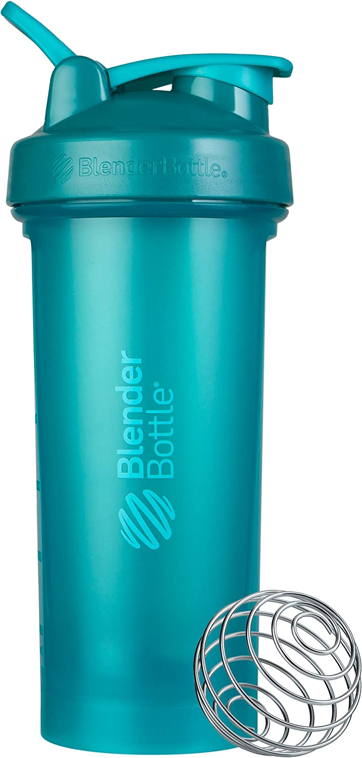 BlenderBottle Classic V2 Shaker Bottle, 28-Ounce, Teal