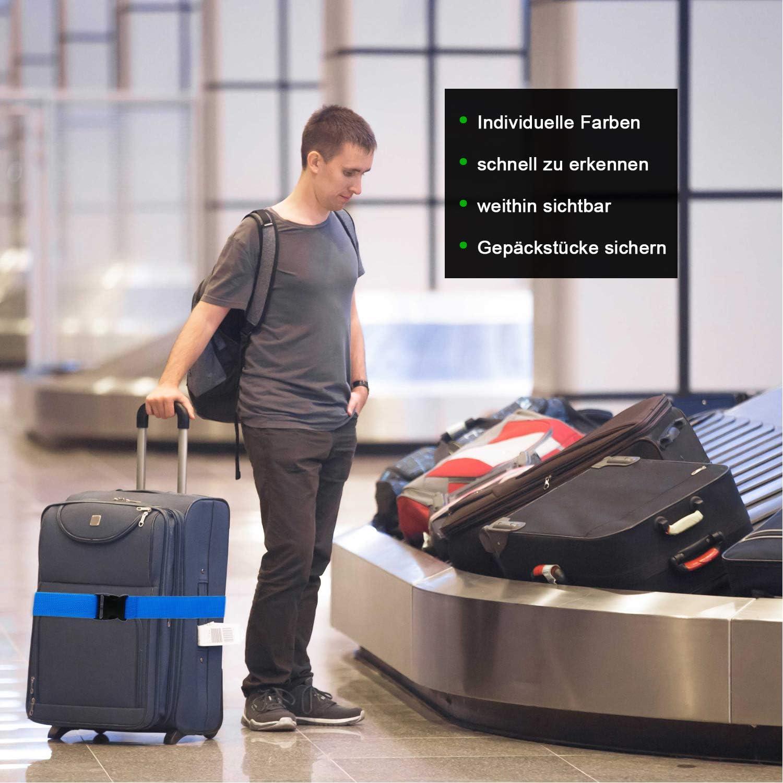1 St. orange Wenter.S Koffergurte praktisches Kofferband Standard Gep/äckgurt zur Individualisierung Ihrer Koffer - Luggage Strap einzigartiges Kofferband