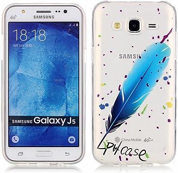 Samsung Galaxy J5 Funda, LOOCOO TPU Funda de Silicona de Gel Carcasa Tapa Case Cover para Samsung Galaxy J5, XS03: Amazon.es: Electrónica