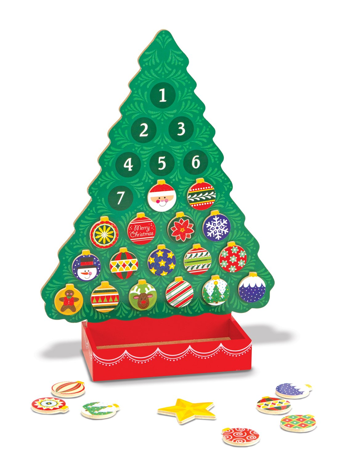 Melissa & Doug Countdown to Christmas Wooden Advent Calendar - Magnetic Tree