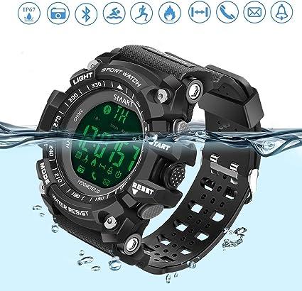 Reloj deportivo inteligente, a prueba de agua, con bluetooth, con ...