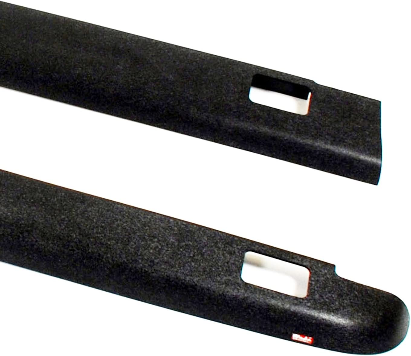 Set of 2 Wade 72-41115 Truck Bed Rail Caps Black Smooth Finish with Stake Holes for 2007-2014 GMC Sierra 1500 Crew Cab Extended Cab with 5.8ft Bed