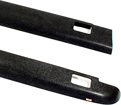 Set of 2 Wade 72-41601 Truck Bed Rail Caps Black Smooth Finish with Stake Holes for 1980-1996 Ford F-150 F-250 /& 1980-1998 Ford F-350 with 8ft bed