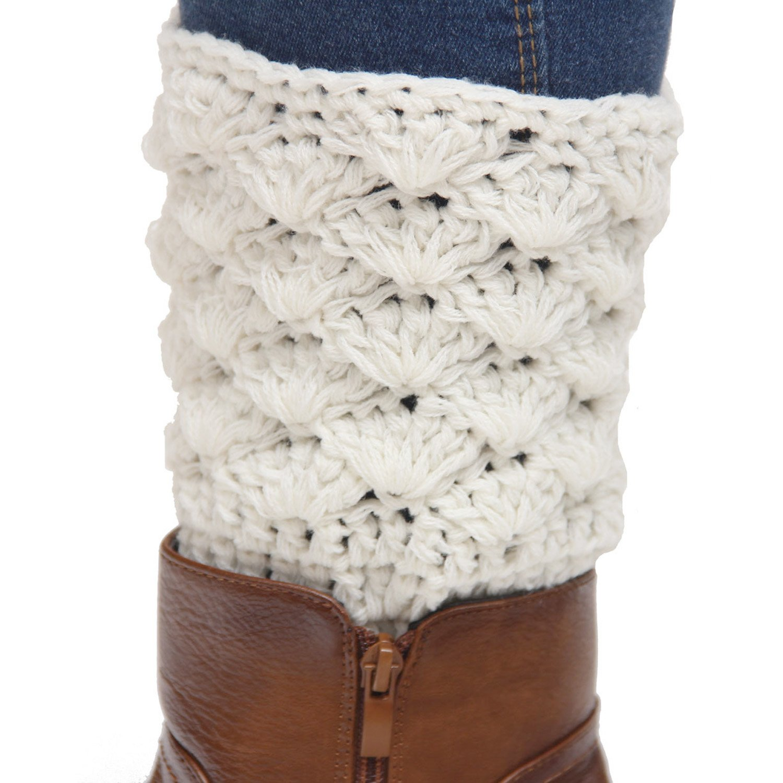 Ganchillo del Knit del algodón pata arranque puños calentador de la ...