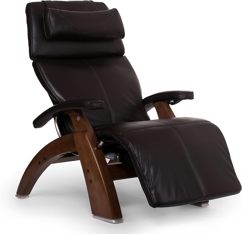 """Perfect Chair """"PC-610 Omni-Motion Classic"""" Premium Full Grain Leather Zero Gravity Recliner, Espresso"""