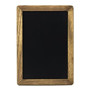 """Rustic Kitchen Chalkboard Menu Sign (10x14"""") with Wood Frame and Non Porous Magnetic Chalk Board Surface for Vintage Decor for Restaurant, Bar Countertop, Wedding, and Home"""