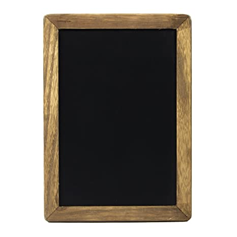 Small Rustic Hanging Chalkboard Sign With Wood Frame And Magnetic Surface For Kitchen Menu Wedding Decor Compatible With Liquid Chalk Ink Markers